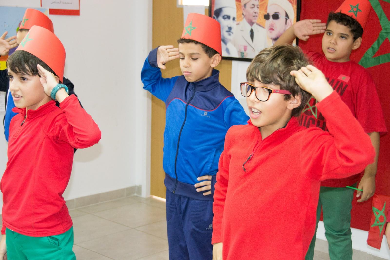 la fête de lindépendance du maroc au groupe scolaire Riviera casablanca